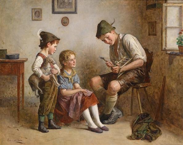 reparatur des wägelchens by edmund adler