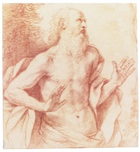 the penitent saint jerome by guercino