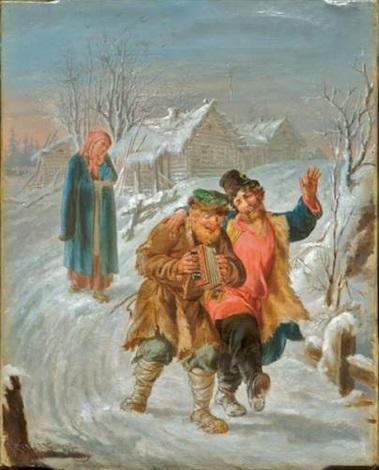 scène de neige animée de personnages by v krukov