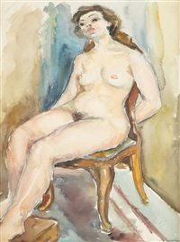 nude on the chair by ecaterina cristescu delighioz