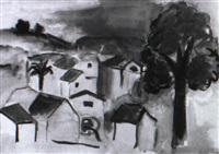dorf in südfrankreich by louise merkel-romee