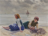 women with oysters by emil (harald emanuel) lindgren