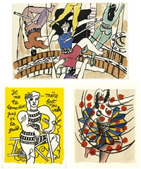 cirque (portfolio of 63) by fernand léger