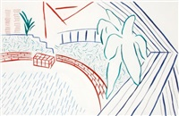my pool & terrace by david hockney