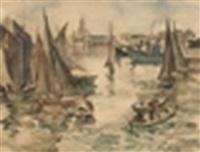 le port d'alger by jean désiré bascoules