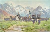 chasseurs alpins devant le boutaiet et la medje by bernard rambaud