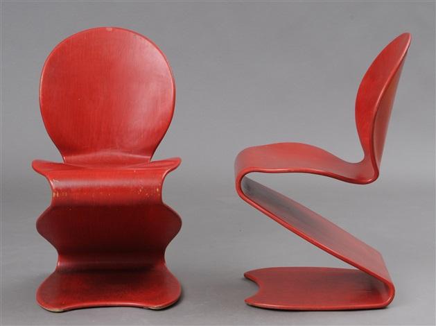 Beau S Chairs (model 276) (pair) By Verner Panton