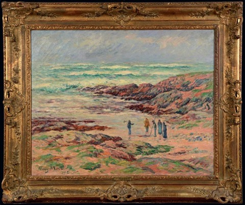 gros temps finistère by henry moret