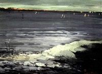 sailing at dusk by leon dabo