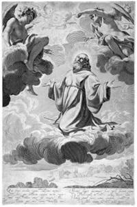 die verzückung des heiligen franz von paola by claude mellan