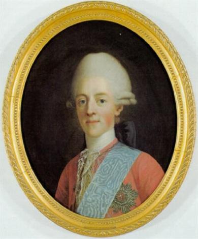 portræt af arveprins frederik i rod frakke med elefantordenens blå bånd og stjerne by virgilius erichsen