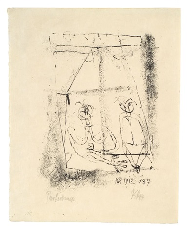 am fenster by paul klee