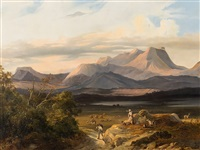 mountain landscape by charles caius renoux