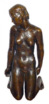 kneeling nude female by georg kolbe