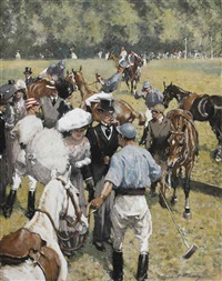 a polo match by gilbert holiday