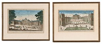 le chateau de s'ildephonse and vue de la maison de preinse d'orange (2 works) by jacques chereau