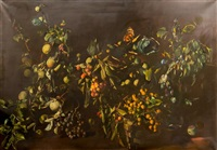 nature morte, fruits dans panier by tibor csernus