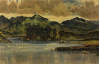 derryclare lake, connemara by mabel young
