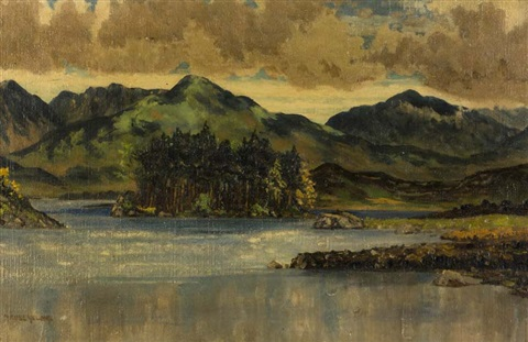 derryclare lake connemara by mabel young
