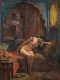 odalisque éplorée by paul emmanuel legrand