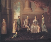 portrait of the danvers of bath by lewis (of bath) vaslet