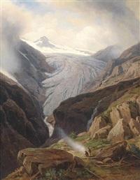 rast am fuße des gletschers by johann wilhelm lindlar