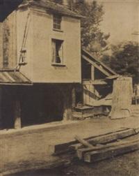 sèvres et ses environs. manufacture. cours et logement du charpentier by henri-victor regnault
