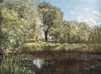 the lily pond by henri biva