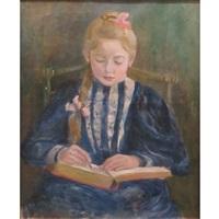 fillette lisant by paule gobillard