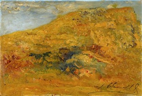untitled landscape another oil on card 2 works by joaquín clausell