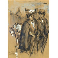 couple walking by isaac israels