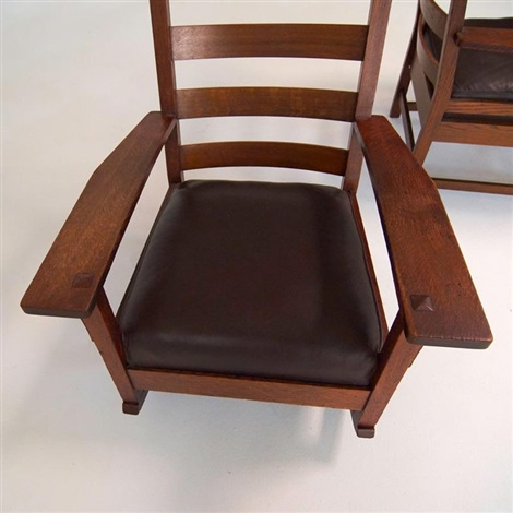 Rocker And Armchair (2 Works) By L.u0026 J.g. Stickley