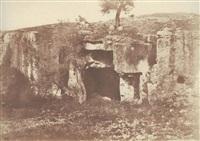 jérusalem - vallée de josaphat - grotte sépulcrale by auguste salzmann