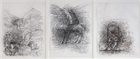 untitled (3 works) by gulam mohammed sheikh
