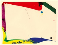 untitled, sf 64-548 by sam francis