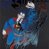 superman, from myths by andy warhol