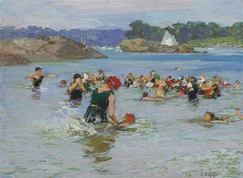 the swimming lesson by edward henry potthast