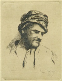 man portrait (possibly selfportrait) by theodor aman