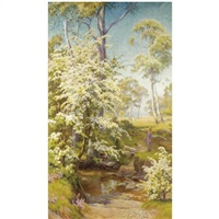 under the hawthorn blossom by walter follen bishop