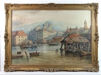 old geneva from lake geneva by edwin st. john