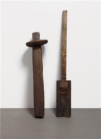 untitled untitled 2 works in 2 parts by ursula von rydingsvard