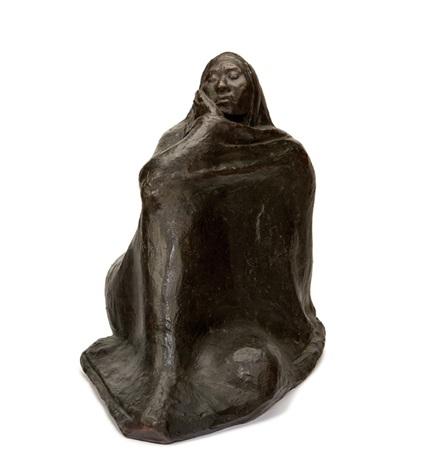 mujer envuelta con rebozo by francisco zúñiga