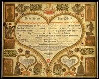 birth certificate for anna catharina kramer by johann jacob friedrich krebs