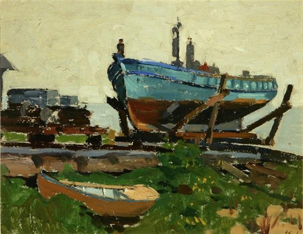 boat in dry dock by ferdinand kaufmann
