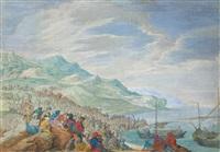 christus predigt auf dem see genezareth by johann wilhelm baur
