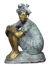 crouching woman by shirley thomson smith