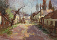 street in the village by nicolae enea