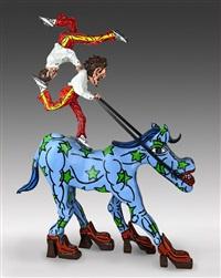 jason le cheval ecologiste americain et des deux equilibristes de l'ave maria by robert combas
