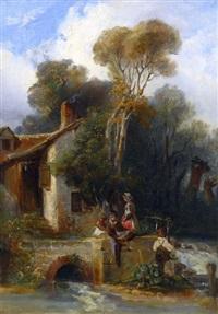 enfants au moulin by camille joseph etienne roqueplan