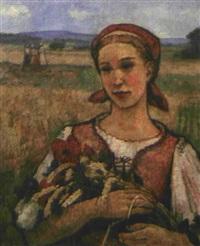paysanne au fichu rouge by joseph král